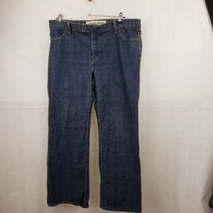 Gap Low Rise Capri Stretch Blue Jeans Size 16